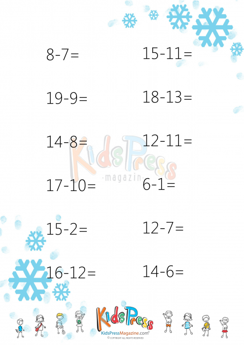 Subtraction Drills for 2nd Grade 2 – Subtraction Drill Worksheets