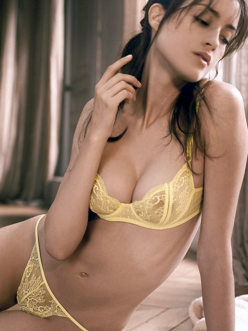 Sexy yellow lingerie