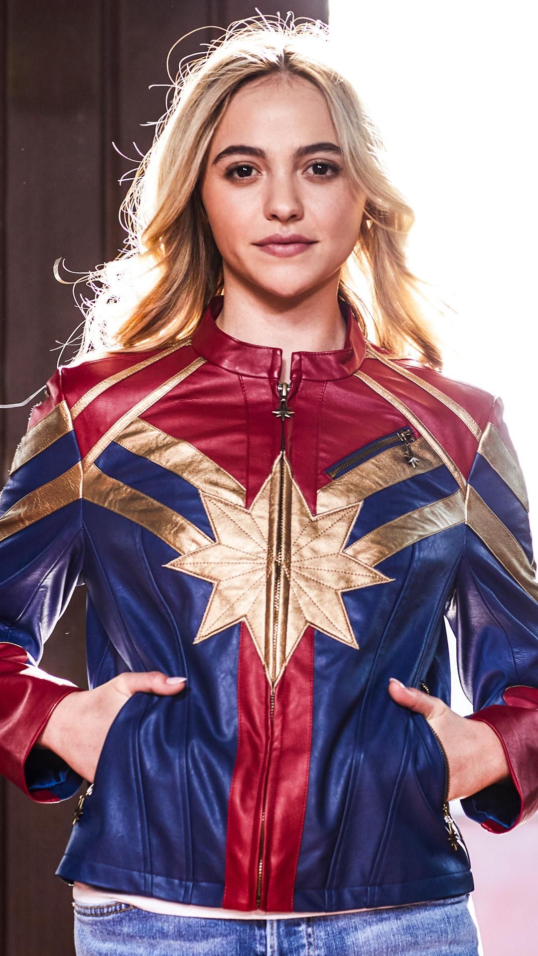 Earth S Mightiest Hero The Incomparable Carol Danvers Her Universe Marvel Captain Marvel Star Girls Faux Leather Marvel Jacket Fandom Outfits Marvel Shirt [ 1920 x 1080 Pixel ]