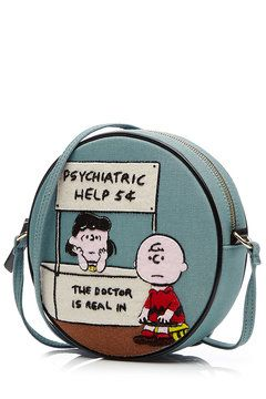 Embroidered Cotton Psychiatric Help Shoulder Bag | Olympia Le-Tan