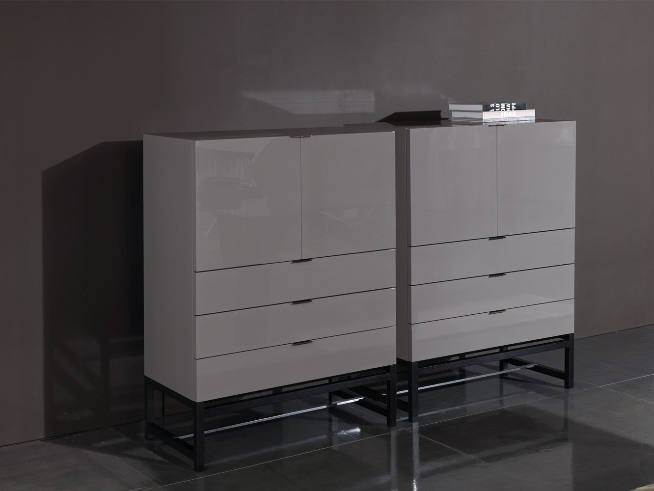 Best Lacquered Highboard With Doors With Drawers Harvey 400 x 300