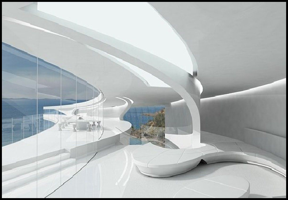 futuristic design | unique futuristic white mahina house ...