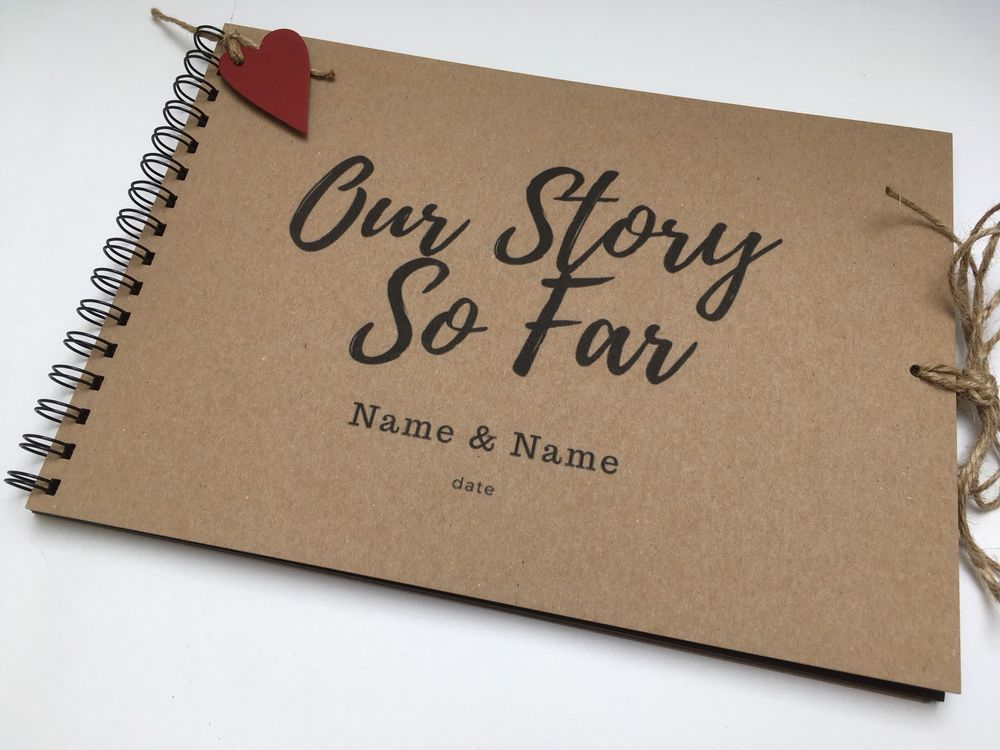 A4 our story so far scrapbook photo album memory book