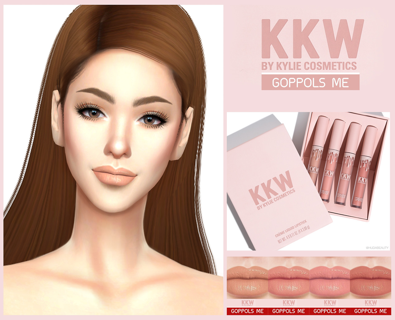 Gpme Kkw Cream Liquid Lipstick Ts 4 Cc Pinterest Sims Krezi Kamis 26 Bourjois Rouge Edition Velvet