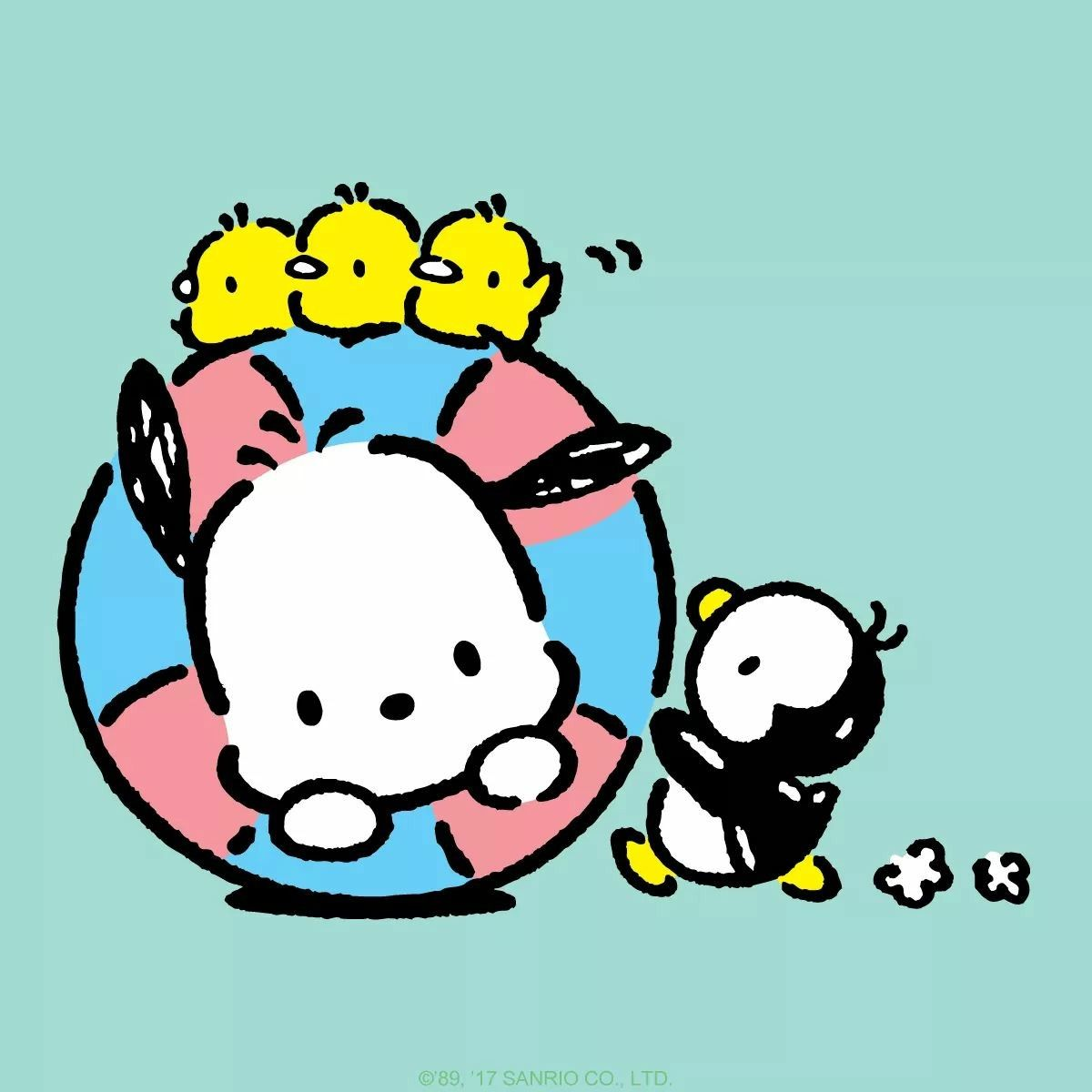 Uh Oh! Looks Like Pochacco Is Stuck In His Floatie. Thank