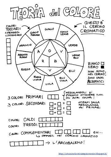 Color Wheel Printable Worksheet In Italian Language Art Class