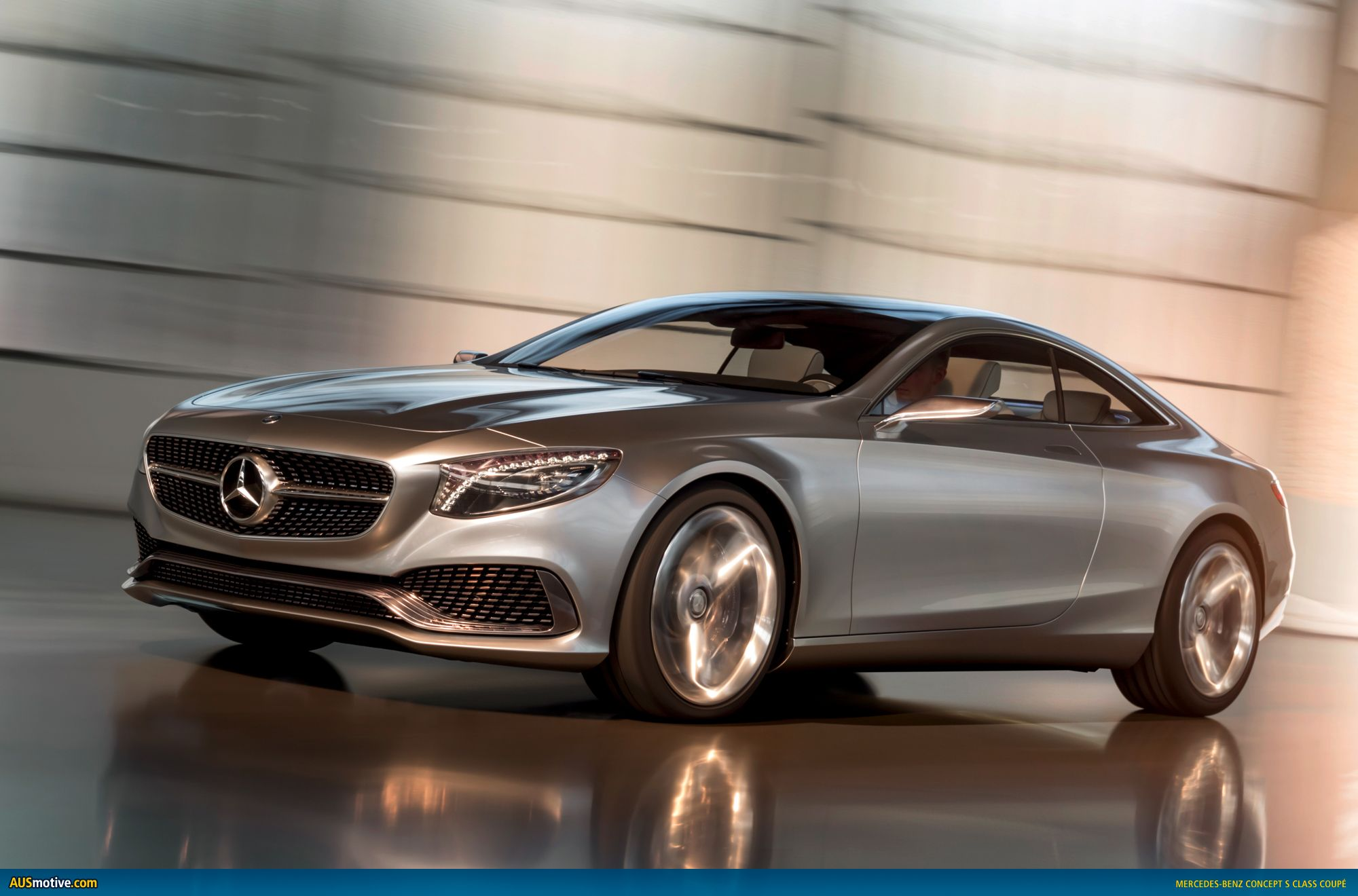 The new S-Class coupe is too sleek. This thing has interior LED lights