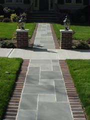 Bluestone Brick Front Yard Walkway Bluestone Walkway Front Porch Stone