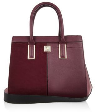 7b7b2ceb82b9 River Island Womens Dark red boxy panel tote handbag