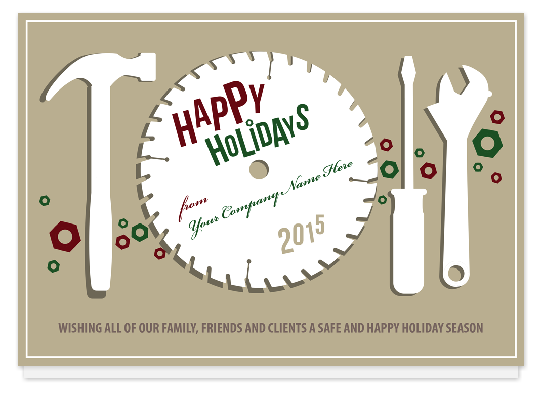 Circular Greetings Holiday Card, A6UJS - Business Christmas Cards ...