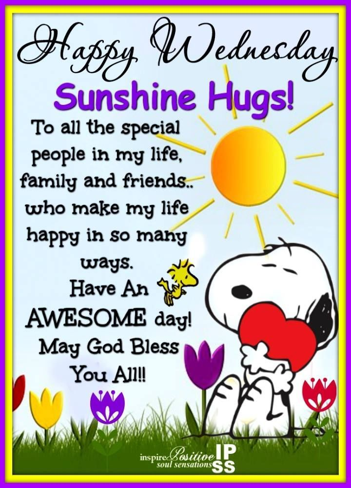 Sunshine Hugs! Happy Wednesday