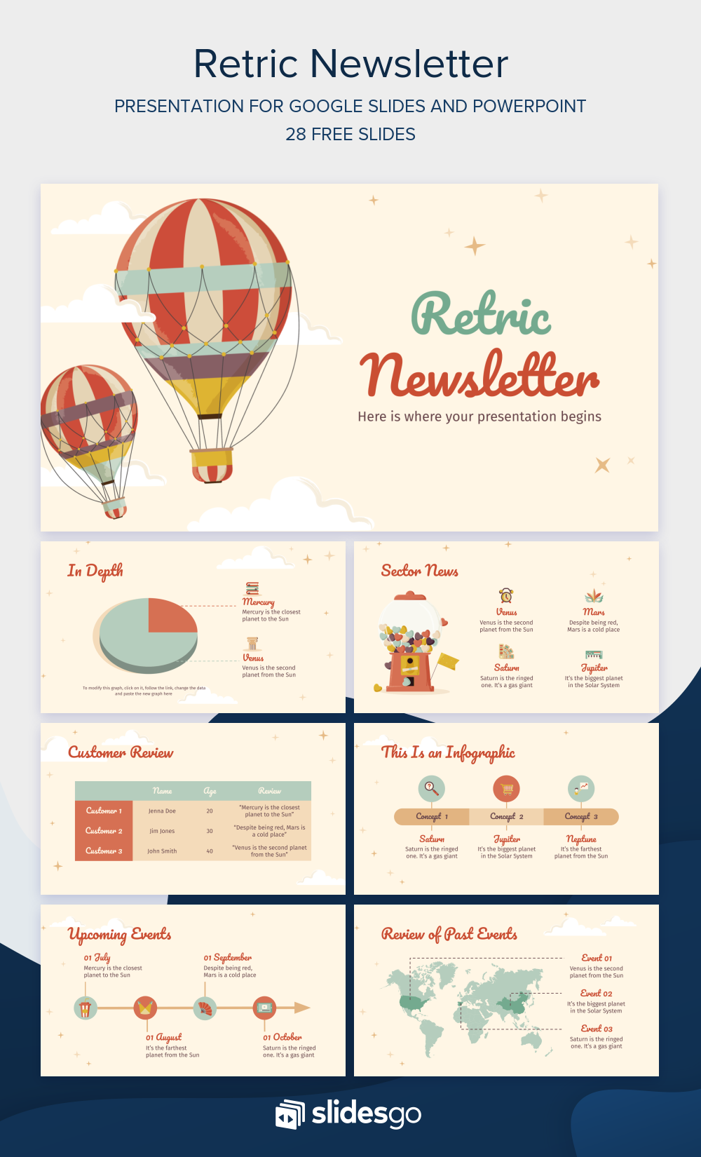 Share The Latest Pieces Of News With This Retric Newsletter Presentatio Powerpoint Presentation Design Powerpoint Background Design Powerpoint Design Templates