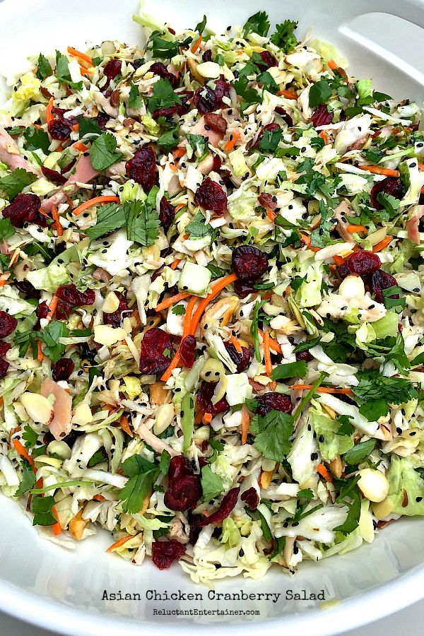 Asian Chicken Cranberry Salad Recipe In 2019 Food Salad
