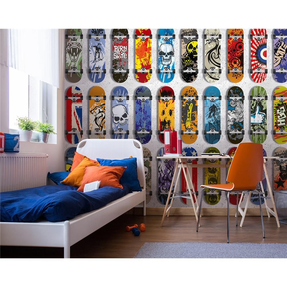 Brewster WR50594 in 2020 Wall appliques, Skateboard room