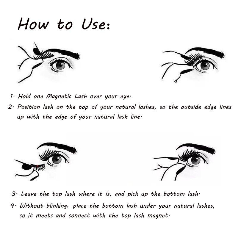 High quality eye lashes reusable ultra thin black