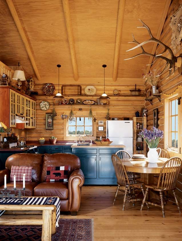 Hunting Cabin Interior Do It Yourself Hunting Cabins: Little Treasures: A 900 Square Foot Log Cabin