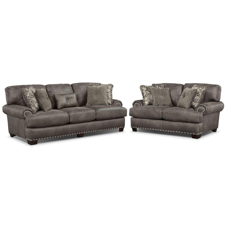 Incredible Burlington Steel 2 Pc Living Room American Signature Short Links Chair Design For Home Short Linksinfo