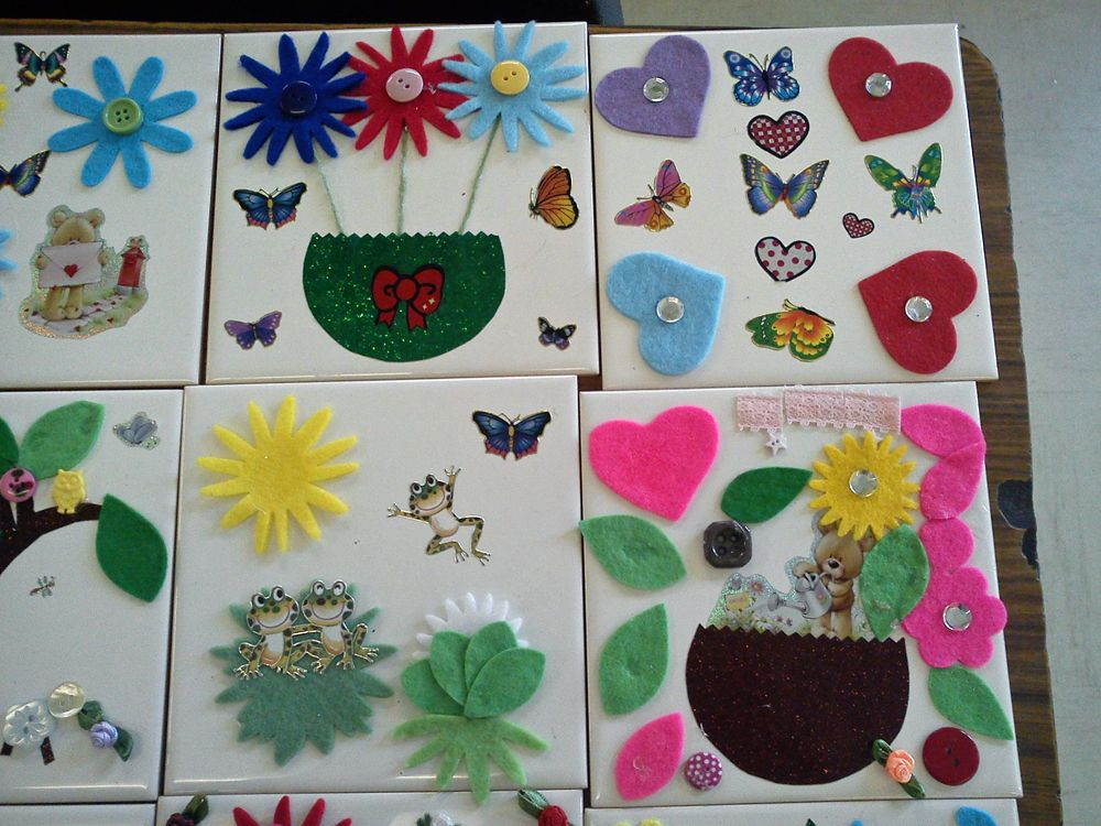 Decorate A Ceramic Tile Crafts Craft Projects For Adults