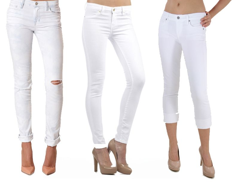 white jeans for girls - Jean Yu Beauty