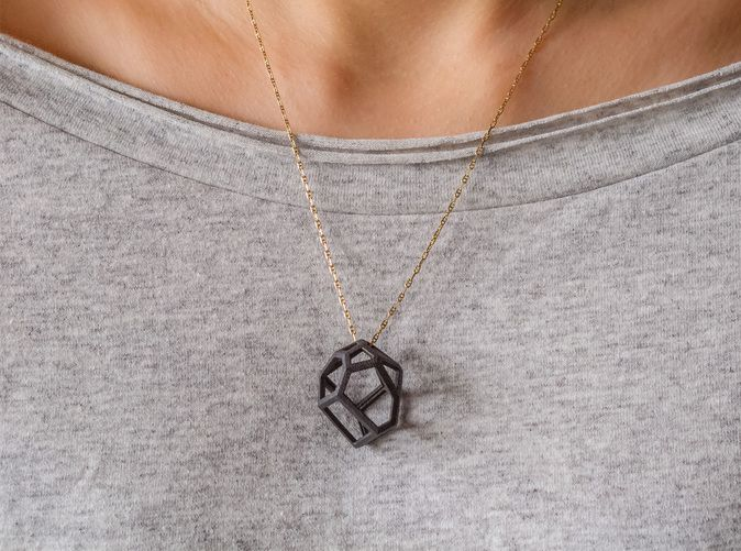 Check out Voronoi cell necklace by roju on Shapeways and discover more 3D printed products in Pendants / Necklaces.
