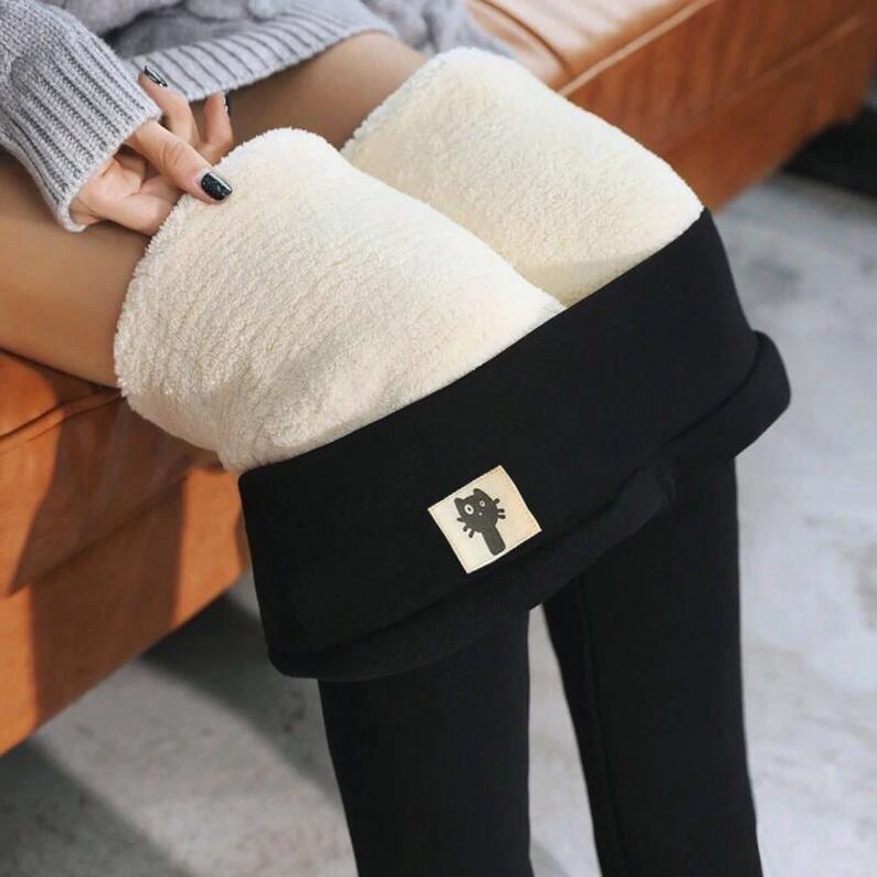 NEW Winter Warm Leggings Women High Waist Velvet T