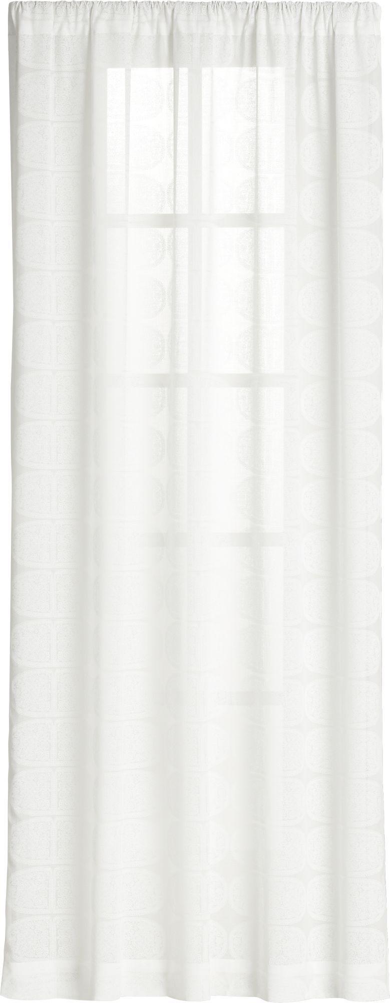 Marimekko Tantsu White Sheer Curtain Panel In Marimekko