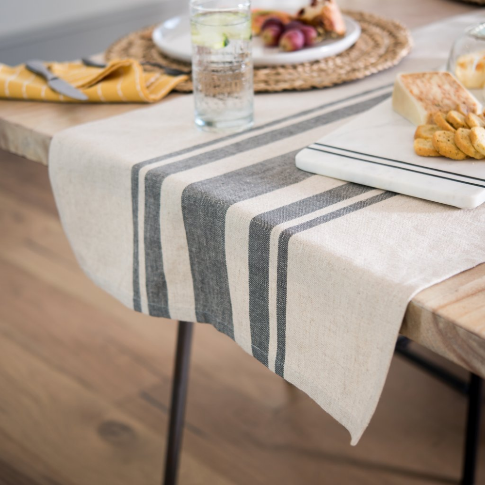 Grey Striped Table Runner Striped Table Runner Striped Table