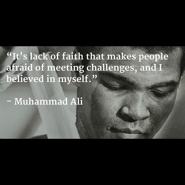 Image result for it is lack of faith muhammad ali
