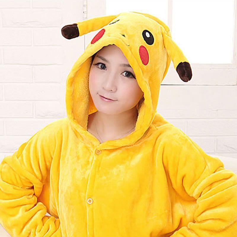 69023fb3d3 Shineye Lovers Unicorn Unisex Flannel Hooded Pajamas Adults Cosplay Cartoon  Cute Animal Onesies Sleepwear Hoodies For Women Men