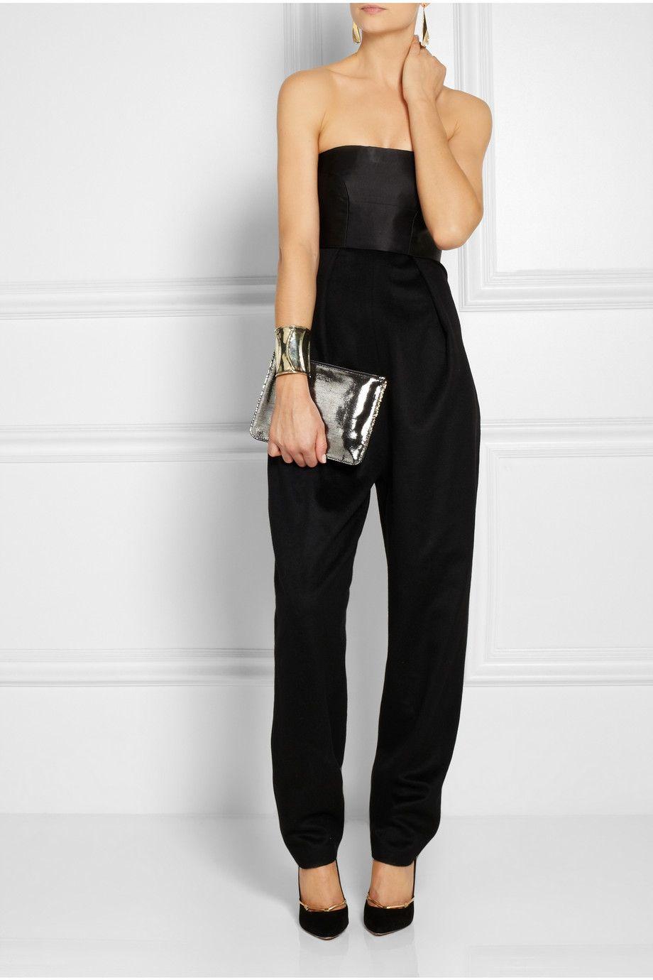 Alexander McQueen|Two-tone metallic leather pouch|NET-A-PORTER.COM