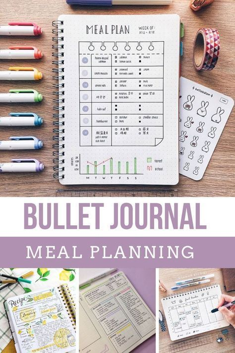 21 Creative Bullet Journal Meal Plan Ideas to keep you organized and well fed!#bullet #creative #fed #ideas #journal #meal #organized #plan