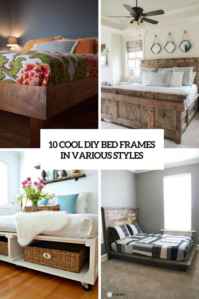10 cool diy bed frames in various styles shelterness