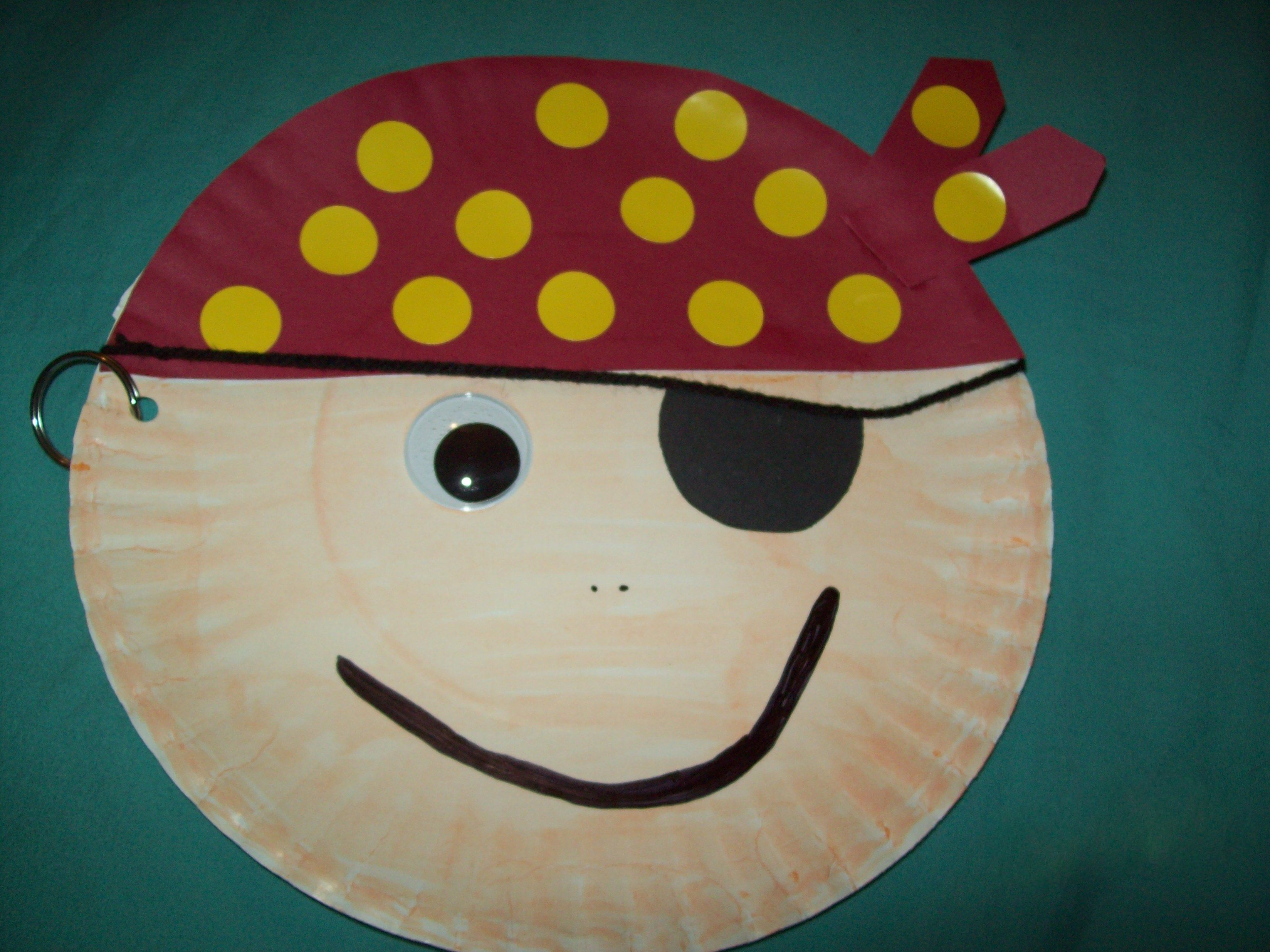 Pirate crafts for toddlers - Paper Plate Pirate Craft For Kids