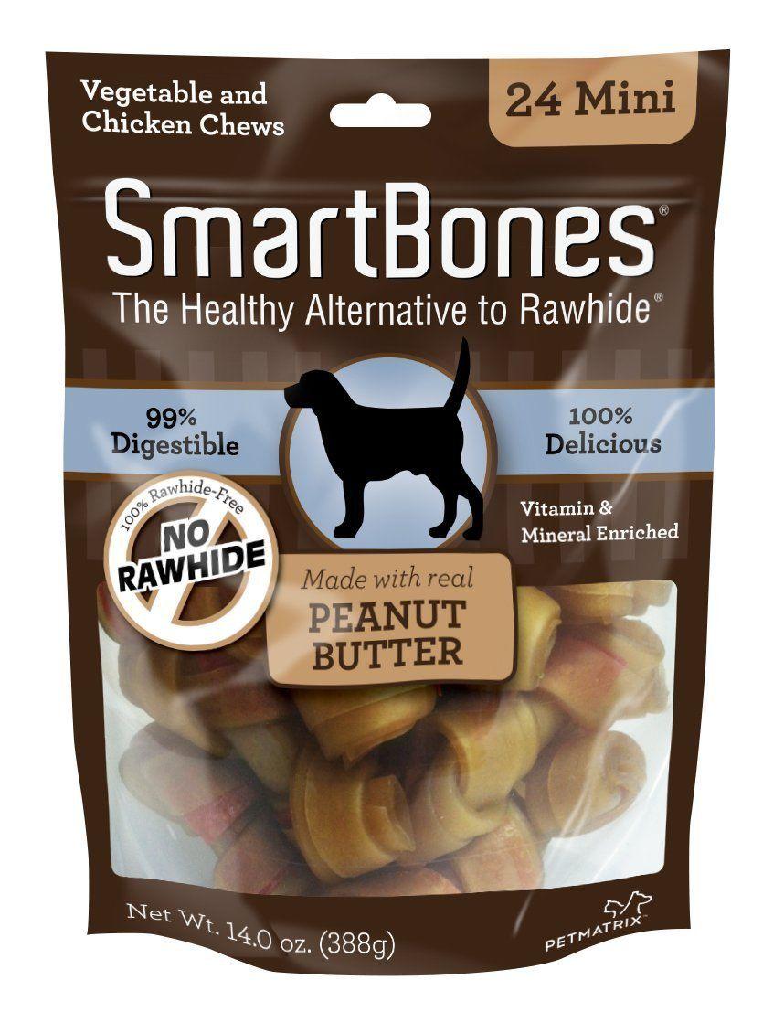 Amazon Com Smartbones Peanut Butter Dog Chew Mini 24 Pieces Pack Dream Bones Pet Supplies Chicken Dog Treats Chicken For Dogs Peanut Butter Dog Treats