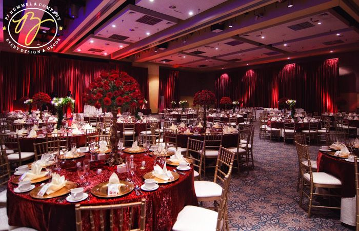 Red table cloth color style design for simons wedding the red drapes event design and decor agency junglespirit Gallery