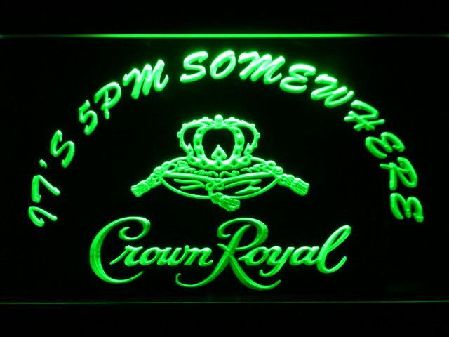 Crown Royal It's 5pm Somewhere LED Neon Sign