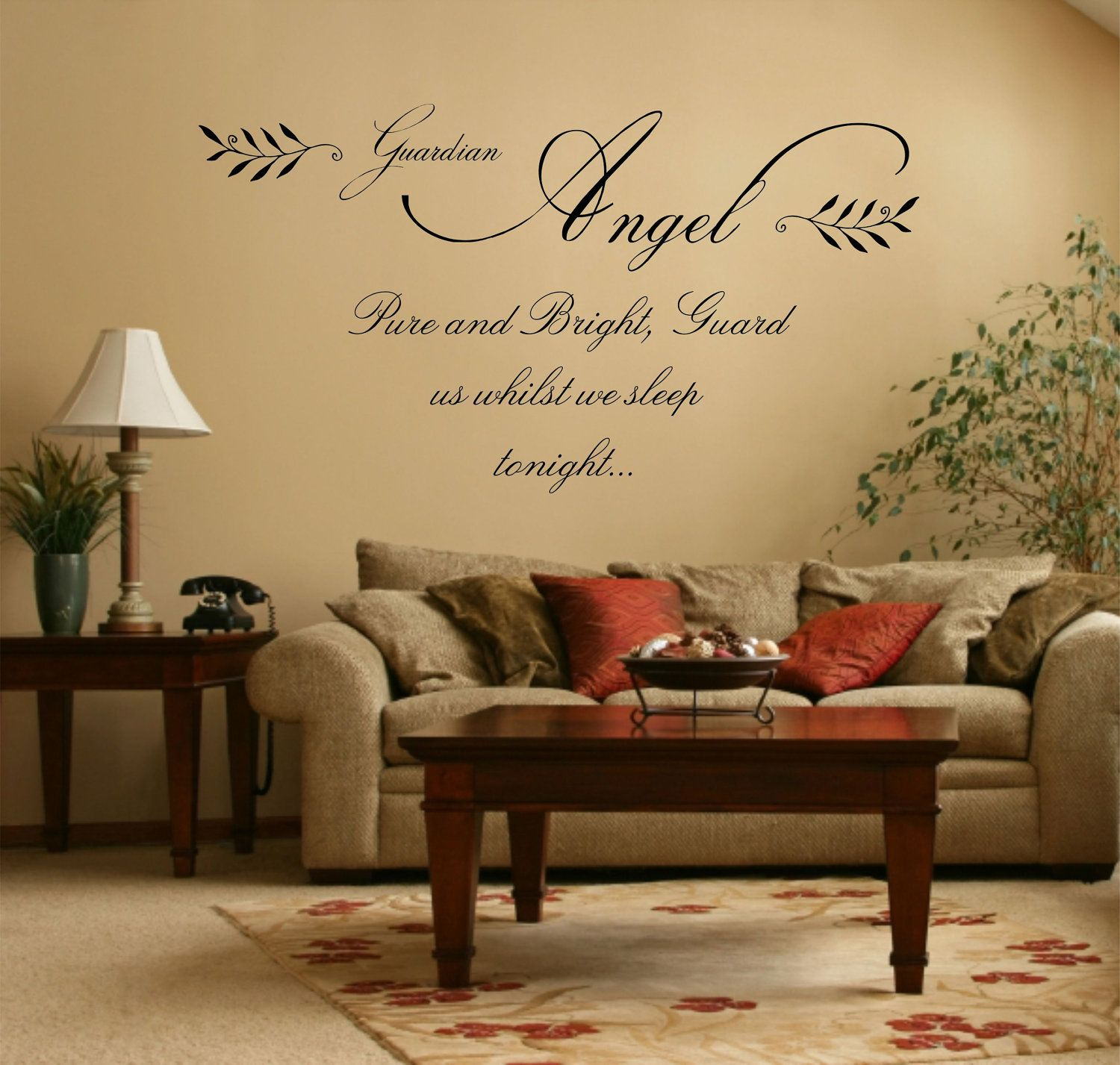 Guardian Angel Quote - Matt Vinyl Wall Art Sticker Decal Mural 90cm ...