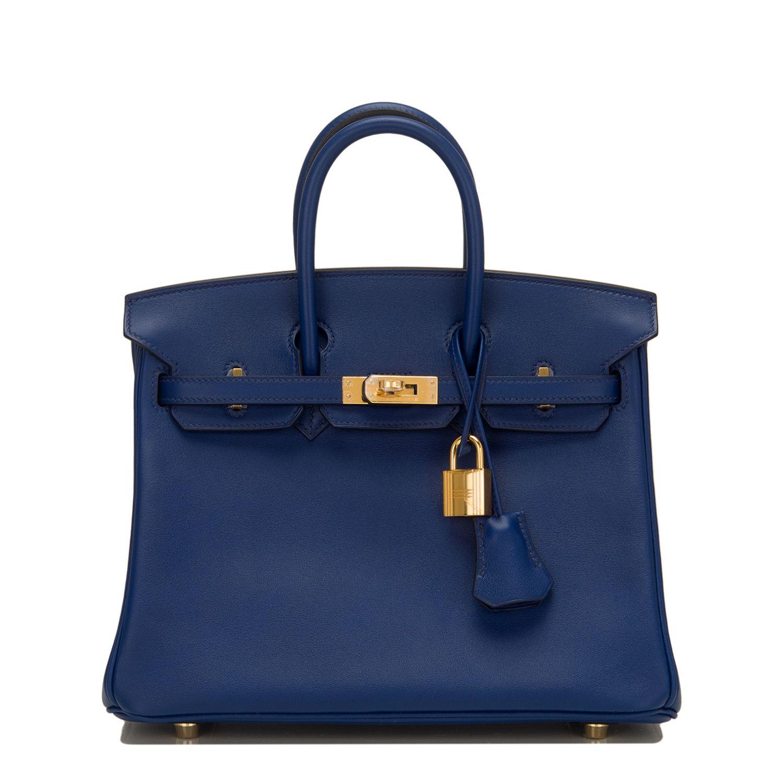 e4b150d146d3 Hermes  Birkin  Bag Blue Sapphire Swift Gold Hardware