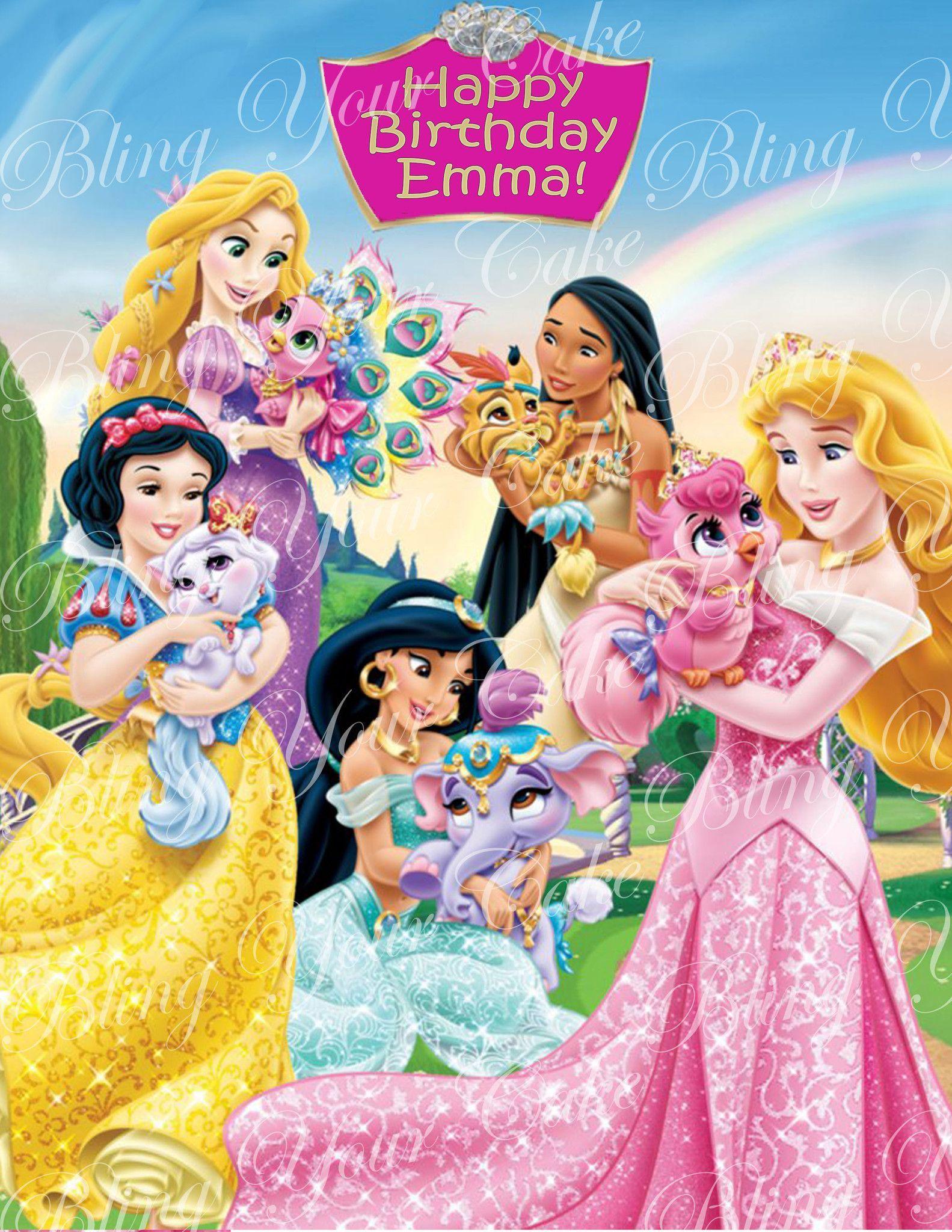 Disney Princess Palace Pets Edible Icing Sheet Cake Decor Topper Dpp2 Princess Palace Pets Disney Princess New Disney Princesses