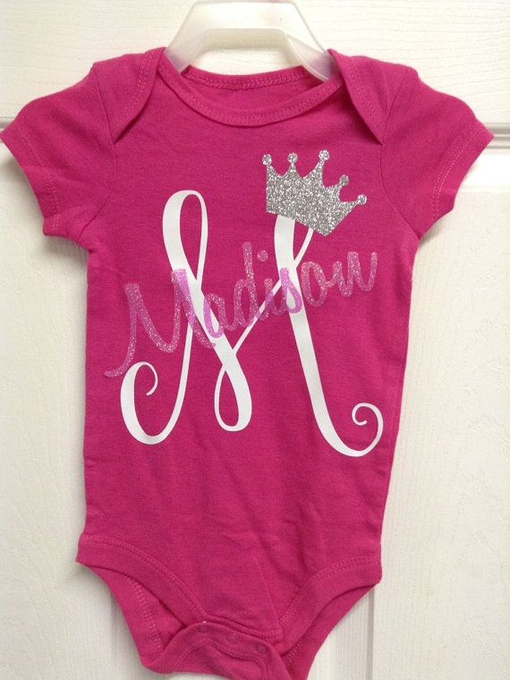 Monogrammed baby onesieboy or girlperonalizedapplique or heat monogrammed baby onesieboy or girlperonalizedapplique or heat transfer vinylbaby giftpersonalized baby gift negle Images
