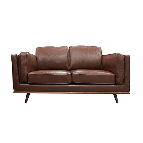 Pleasant 2 Seater Stylish Leatherette Brown York Sofa Sofa Gmtry Best Dining Table And Chair Ideas Images Gmtryco