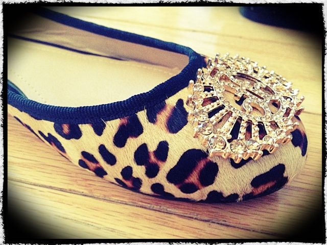 Our gorgeous NEW Audrey flat in Leopard! Real leather calf hair...FREE with a qualified trunk show or only $99.50! Much cheaper than all real leather calf hair flats on the market...and MUCH CUTER!!