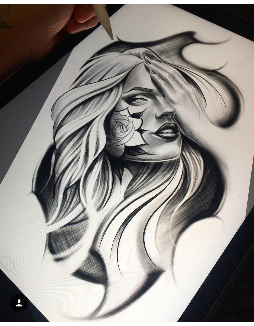 Image By Steven Bracamonte On Chicano Girl Face Tattoo Tattoo