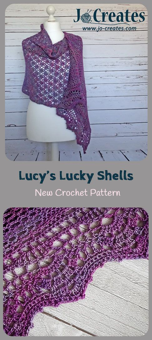 This Crochet Pattern for a rectangular shawl comes with a crochet chart and full written instructions