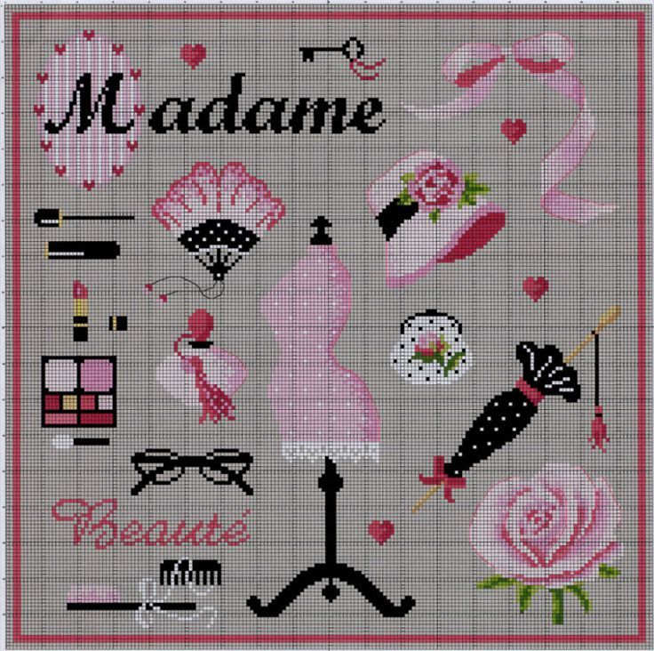 0 point de croix madame beaut dressing room cross stitch dressing room madam beauty. Black Bedroom Furniture Sets. Home Design Ideas