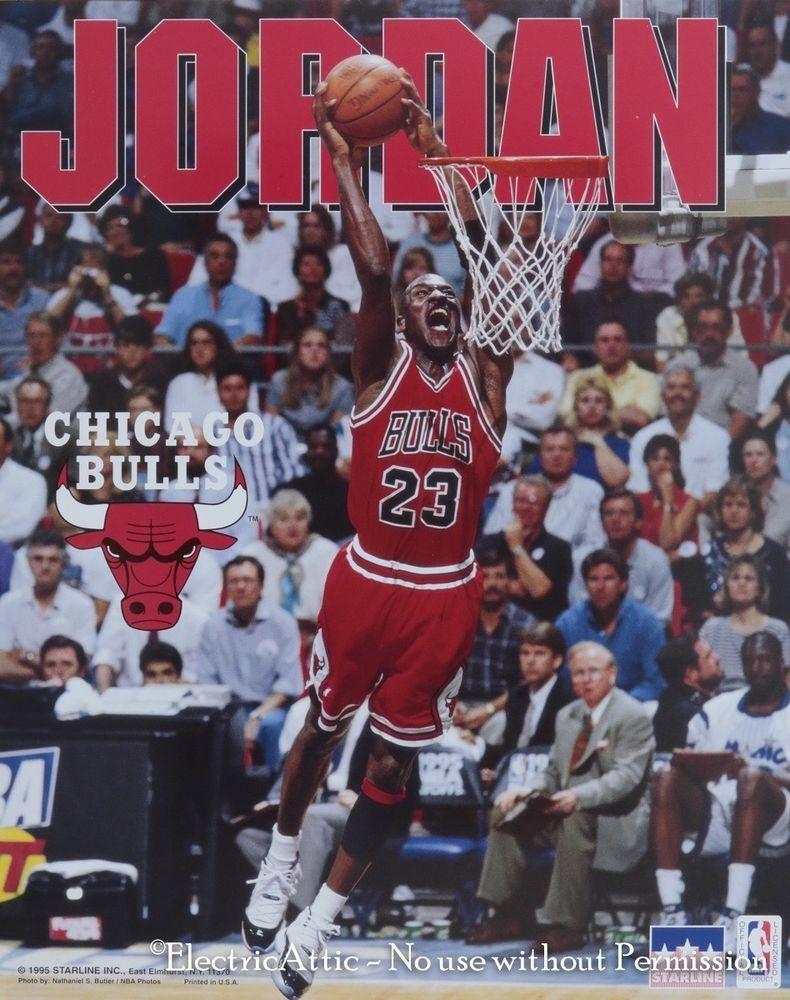 adc62998cc8 Vintage New Old Stock 16 x 20 1995 Starline Michael Jordan Chicago Bulls  Poster