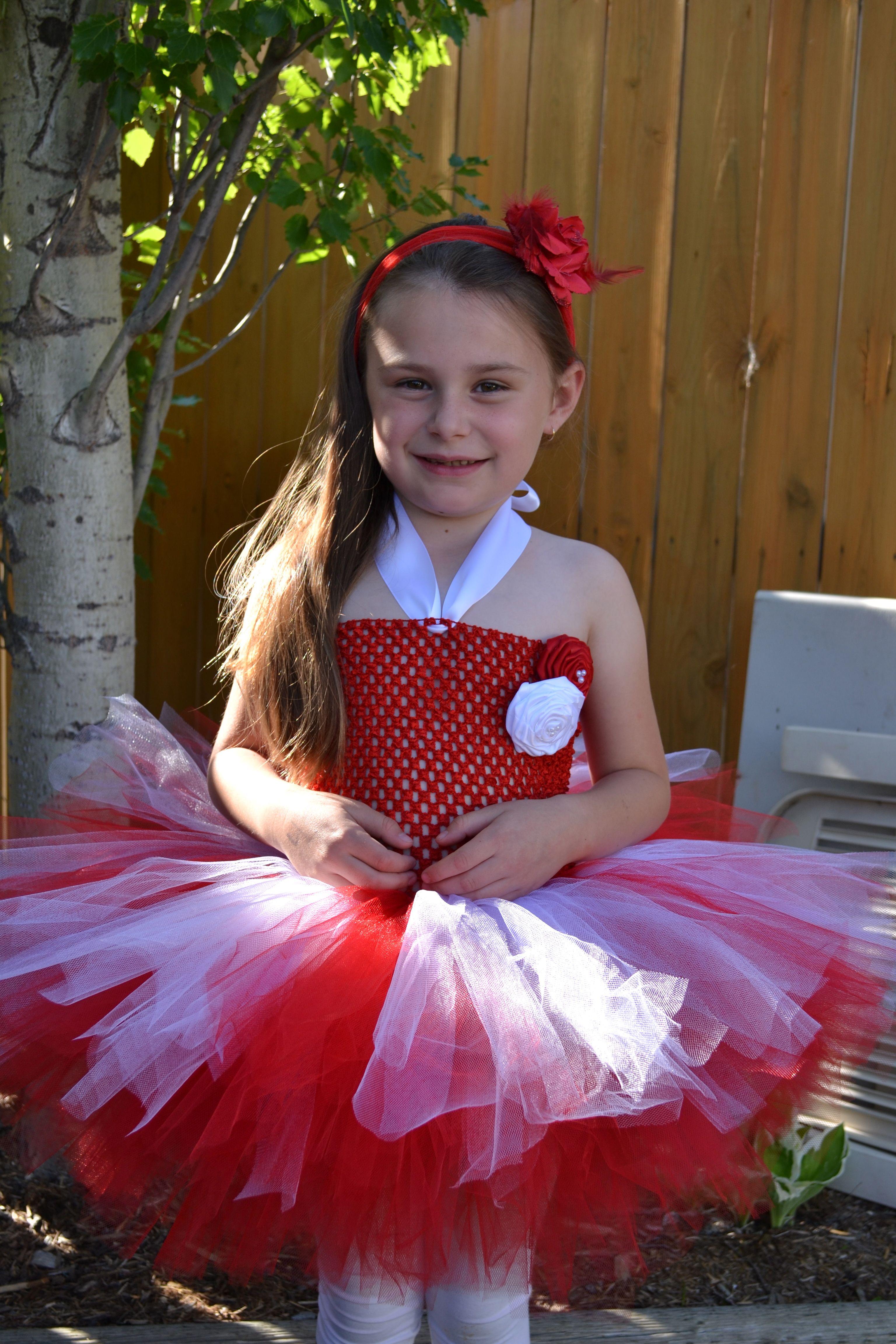 Canada's day tutu dress Diy tutu dress, Flower girl