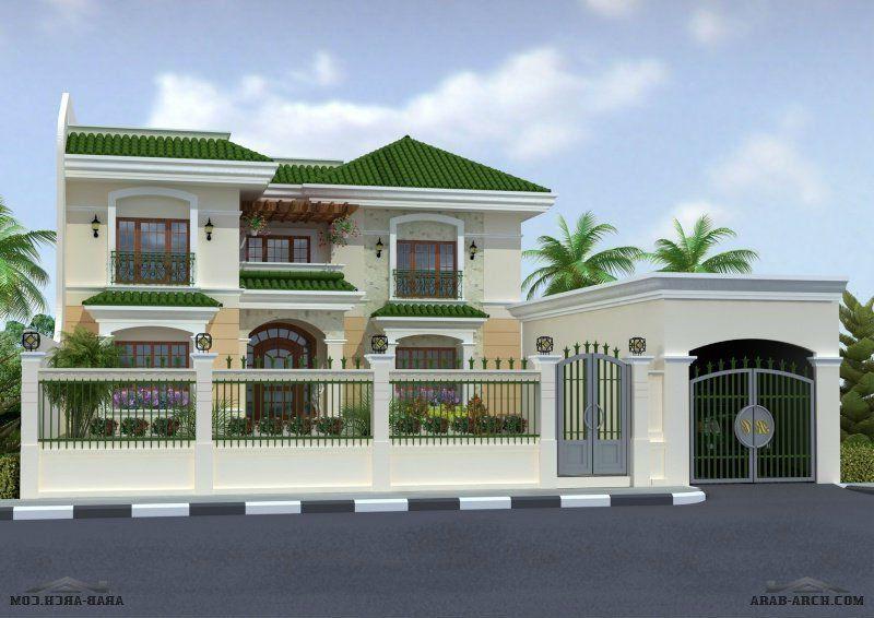 اشكال فلل جديدة ومتميزة House Styles Design Mansions