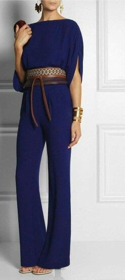 Get up and indigo-go to work in a fun jumpsuit like this one!