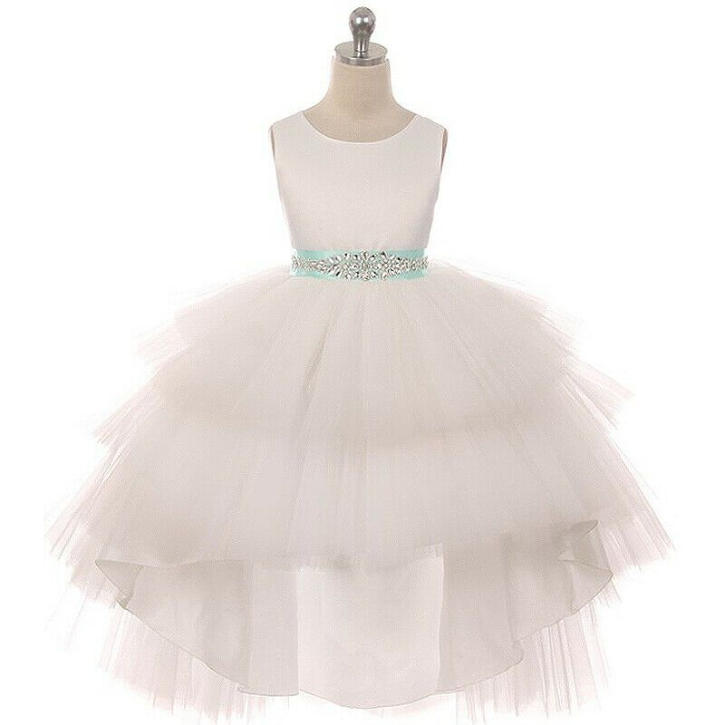 Flower Girls Dresses Wedding Pageant Bridesmaid Rectical Formal Birthday Dance